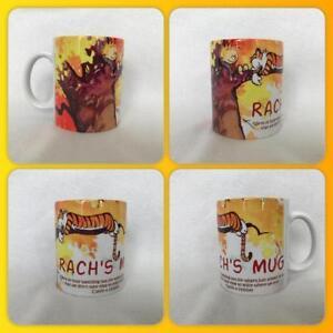 personalised mug cup Calvin and Hobbes best friends comic strip American cute :)