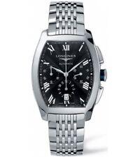 Longines Evidenza Automatic Chronograph Tonneau Black Dial Mens Watch L26434516