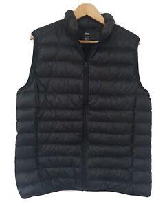 UNIQLO Puffer Vest Down Women's Size Large Black Excellent Condition