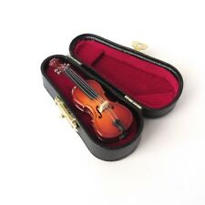 """Cello Pin w/Wood Case - 2.75"""" Musical Instrument Brooche - Music Gift Orchestra"""