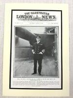 1914 WW1 Original Aufdruck Sir George Callaghan Admiral Der Flotte Britisch Navy