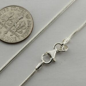 21 inch / 54 cm, 1.5mm solid 925 STERLING SILVER Snake CHAIN Made in Poland #66