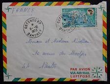 Y18* Enveloppe /Pli postal /Dahomey -> France Cotonou AIR-MAIL / PAR-AVION 1973