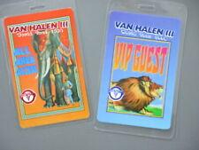 Van Halen backstage passes Two Laminated tour pass Iii 1998 orange & blue!