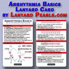 Cardiac Arrhythmia Basics - Pocket Lanyard Card for Nurses, doctors, students