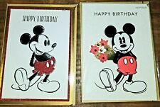 LOT OF 2 PAPYRUS DISNEY MICKEY MOUSE BIRTHDAY CARDS