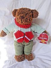 Hallmark Teddy Mittens Brown Teddy Bear Plush Animal Pr2626 With Tag Red Scarf