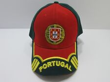 Portugal Football Soccer Green/Red/Yellow Baseball Cap Hat 100% Polyester