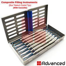 Set Of 7 Composite Dental Filling Instrument Probe Scaler Spatula With Cassette