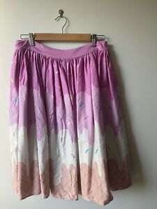Collectif Ice Cream Pink Swing Skirt Size L
