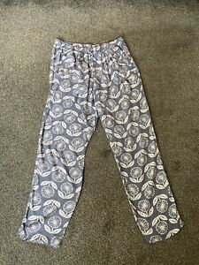 Weird Fish Printed Viscose Trousers Size 16