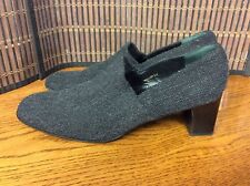 Lauren Ralph Lauren ladies shoes size 8.5 B gray tweed wool heels  F20