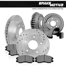 For Escalade Tahoe Front Brake Rotors + Ceramic Pads Rear Brake Drums + Shoes