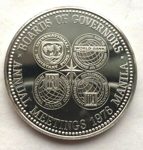 Philippines 1976 I.M.F. Meeting 50 Piso Silver Coin,Proof