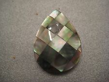 Laminated Shell Top Side Drilled Teardrop Bead 1 pc