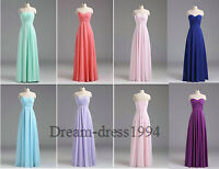 STOCK Strapless Formal Ball Evening Party Prom Gown Bridesmaid Dresses Size 6-22