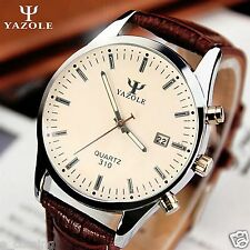 YAZOLE Men's Vintage Date Business Watch Stainless steel Retro Wrist Watches Hot