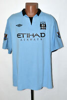 MANCHESTER CITY 2012/2013 HOME FOOTBALL SHIRT JERSEY UMBRO SIZE XXL ADULT