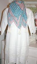 Noa Noa  Kleid Dress Kurzarm Vintage Anglaise White Weiss size: 38  Neu