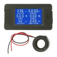 PZEM-022 AC Digital Meter Power Energy Voltage Current KWh Test Close CT 100A