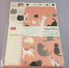 F/S DAISO JAPAN  CATS Letter Set Envelopes&Writing Papers,stickers