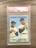 1967 Topps Fence Busters PSA 7 Willie Mays Mccovey #423 NM
