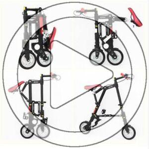 Ultra Mini Light Weight Urban City Portable Stowaway Folding Bike Carry On Sport