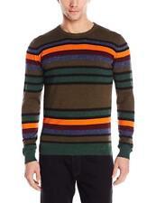 Diesel Men's Orange Multi Stripe K-Calib-B Crew-Neck Pullover Sweater