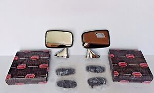 New Pair of Side Mirrors Reproduction of Original Mirror MGB 1974-80 Made UK Tex