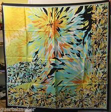 SEIDEN-TUCH SCARF XL Blütenmotiv abstrakt SEIDE Flowers abstract - in 3 Farben