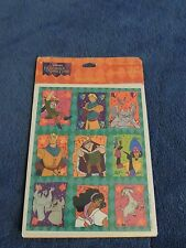 New Hallmark Disney HUNCHBACK of NOTRE DAME Stickers 4 Sheets Sheet