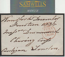 MS258 1836 GB *CARDIGAN* AUTOGRAPH Free Front *Wansford* Signed 6th Earl CRICKET