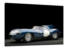 1955 Jaguar D-Type - 30x20 Inch Canvas - Classic Car Framed Picture Print Art