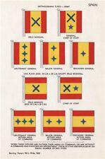 SPAIN ARMY CAR FLAGS Field Marshal Chief of Staff Lieut/Major/Brig-General 1958
