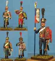 Napoleonic Wars — French foot hussars — 60mm High quality Metal Figure