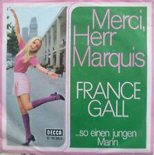 "7"" 1968 RARE ! FRANCE GALL : Merci Herr Marquis /VG+?"