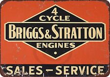 Briggs & Stratton 4 Cycle Vintage Look Reprodution Metal Sign 8 x 12