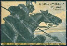 Militari IV Reggimento Genova Cavalleria Origo Lancieri cartolina XF2009