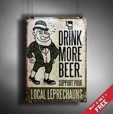 A3 boire davantage de la bière Rétro Vintage Signe Poster Print Pub Bar Decor Support local
