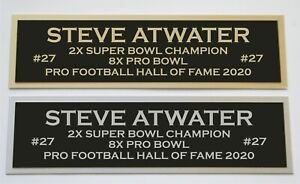 Steve Atwater nameplate for signed jersey football helmet or photo