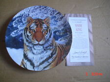 The Hamilton Collection Collectors Plate SNOW KING Tiger