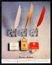 BENSON AND HEDGES 1963 Quills Inkwells BRITISH CIGARETTE ADVERT #5