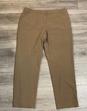 Ellen Tracy Women's Sz 12 Flat Front At-Waist Stretchy Straight Leg Dress Pants