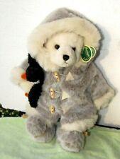 "Bearington Bear IGGY & LOU w/ Penguin  ESKIMO Style Fur Coat Parka Boots 15"" NWT"
