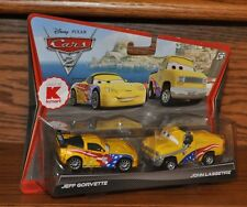 Disney Pixar Cars 2 Die Cast 2 pack Jeff Gorvette & John Lassetire  V5113  NEW