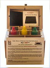 GOLD ACID TEST KIT 10K14K18K 1 box Testing Silver Box Stone Ring File 10 Gram