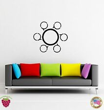 Wall Sticker Modern Abstract Cirle Living Room Bedroom Decor  (z1600)
