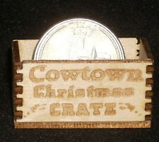 Dollhouse Miniature Cowtown Christmas Crate 1:12 Scale Toys Candy Santa Texas
