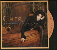 CHER The Music's No Good Without You 2 tracl CARDslv CD SINGLE