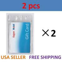2 Vertical ID Cards Tag Heavy Duty Clear Plastic Badge Holder Military School